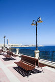 Sliema Malte l'Europe de promenade de bord de la mer Photo stock