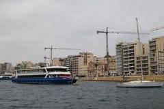 Sliema, moderne havenstad in Malta Royalty-vrije Stock Foto's
