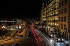 Sliema na noite Foto de Stock Royalty Free