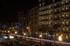 Sliema by night Stock Photos