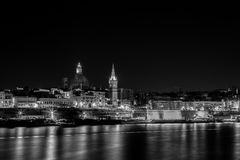 Sliema by night royalty free stock images