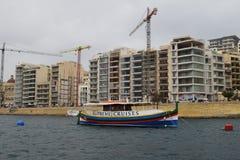 Sliema, nowożytny biedne miasto w Malta Obraz Stock