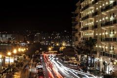 Sliema par nuit Photo stock