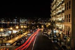 Sliema par nuit Image stock
