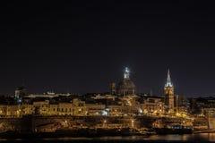 Sliema par nuit Photo libre de droits