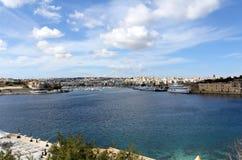Sliema, promenade, la mer Méditerranée, République de Malte Photo libre de droits