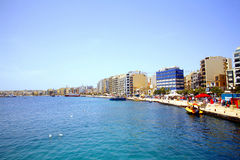 Sliema seafront, Malta. Royalty Free Stock Image