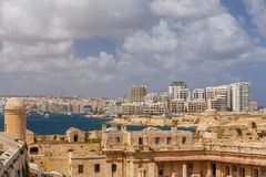 Sliema from St. Elmo Royalty Free Stock Images