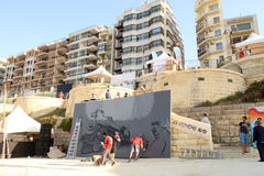 Sliema Street Art Festival Stock Photo
