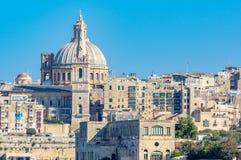 sliema Valletta widok Fotografia Stock