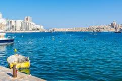 sliema Valletta widok Obraz Stock