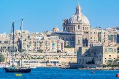 sliema Valletta widok Zdjęcie Royalty Free