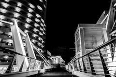 Sliema vid natt arkivfoto