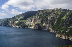 Slieve League, Cliffs of Bunglass, Ireland. Donegal, Europe's highest sea cliffs Slieve League royalty free stock photos