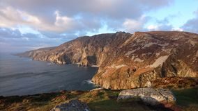 Slieve League Cliffs Donegal. Beautiful view of Slieve League Cliffs Donegal Ireland royalty free stock photo
