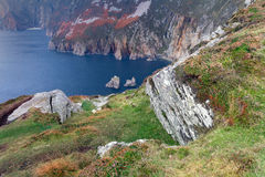 Slieve League, highest cliffs of Ireland Stock Photography