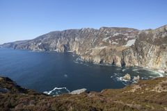 Slieve League. Landscape photo of the Slieve League cliffs in Co. Donegal in Ireland stock image