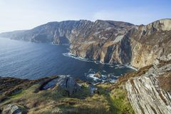 Slieve League. Landscape photo of the Slieve League cliffs in Co. Donegal in Ireland stock photo