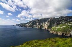 Slieve liga, klippor av Bunglass, Irland Fotografering för Bildbyråer