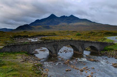 Sligachan桥梁- skye海岛 图库摄影