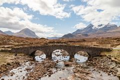 Sligachan bro Arkivbild