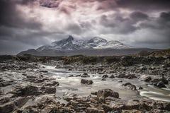 Sligachan, isola di Skye, Scozia fotografia stock libera da diritti