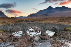 Sligachan na ilha de Skye fotografia de stock royalty free