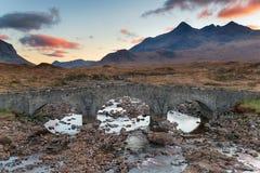 Sligachan sull'isola di Skye fotografia stock libera da diritti