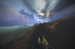 Slight apocalypse. Abstract landscape with blurry motion royalty free illustration
