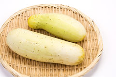 Slight green cucumbers Royalty Free Stock Image