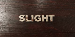 Slight - grungy wooden headline on Maple  - 3D rendered royalty free stock image Royalty Free Stock Image