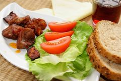 Slight lunch - meat Royalty Free Stock Image