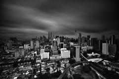 Slightly defocused image of Kuala Lumpur skyline Royalty Free Stock Photography