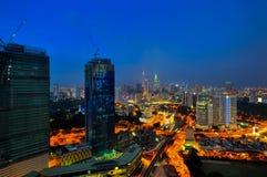 Slightly defocused image of Kuala Lumpur skyline Royalty Free Stock Image
