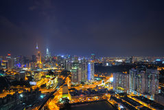 Slightly defocused image of Kuala Lumpur skyline Royalty Free Stock Photo