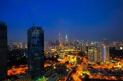 Slightly defocused image of Kuala Lumpur skyline Royalty Free Stock Images