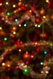 Slightly defocused real vertical Christmas bokeh background Royalty Free Stock Photo