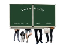 The slightly different family photo royalty free stock images