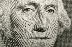 Shallow focus image of United States of America founding father, president George Washington. stock photography