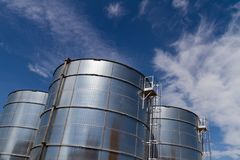 Storage tanks, industrial site, Amsterdam, Netherlands. royalty free stock photos