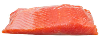 Slightly salted trout red fish fillet isolated Royalty Free Stock Photography