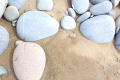 Slightly saturated image of beach pebbles Royalty Free Stock Photography