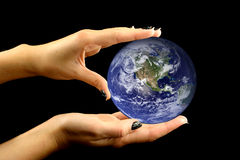 Slightly touched earth Royalty Free Stock Photo