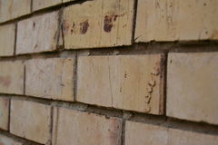 Slightly weathered brick wall Royalty Free Stock Photo