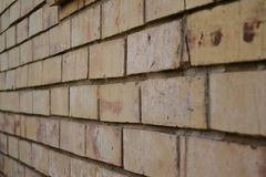 Slightly weathered brick wall Stock Photography