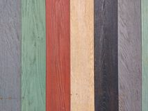 Wood Texture, Grey, Green, Red, Yellow, Black Wooden Background, Colorful Timber Plank Wall stock photography