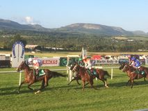 The Sligo Races. Horse racing at the Sligo Races, Ireland Royalty Free Stock Photo