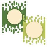 Slijm abstracte groene vloeibare achtergrond vector illustratie