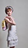 Slim adolescent model Royalty Free Stock Photography