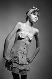 Slim adolescent model Stock Photos